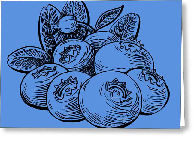 Blueberries Group Greeting Card