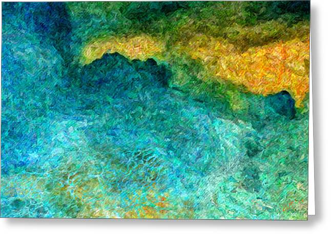 Blue Abstract #5 Greeting Card