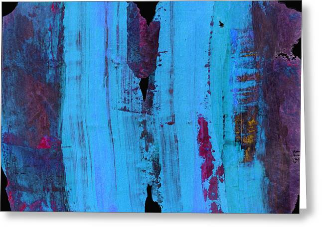 Blue Abstract Greeting Card by Ann Powell
