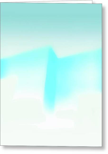 Blue Abstract Painting Greeting Card
