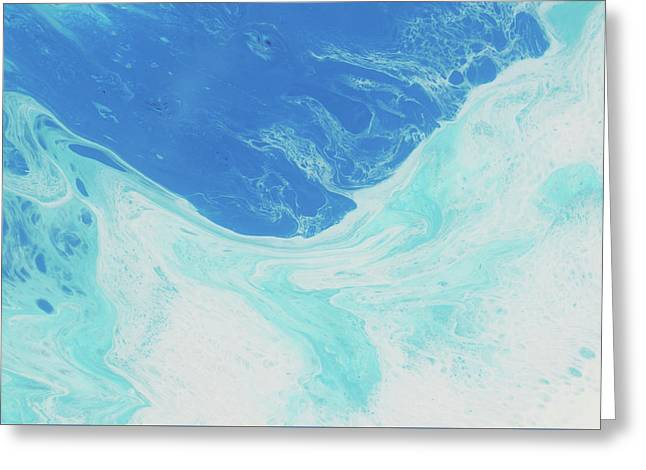 Greeting Card featuring the painting Blue Abyss by Nikki Marie Smith