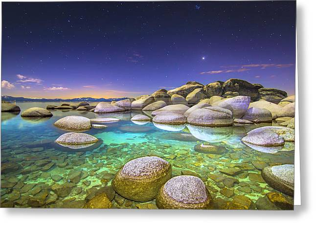 Blue Abyss Greeting Card by Steve Baranek