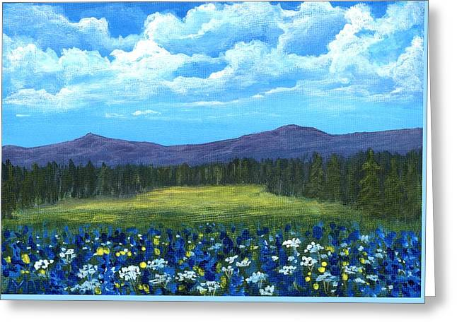Greeting Card featuring the painting Blue Afternoon by Anastasiya Malakhova