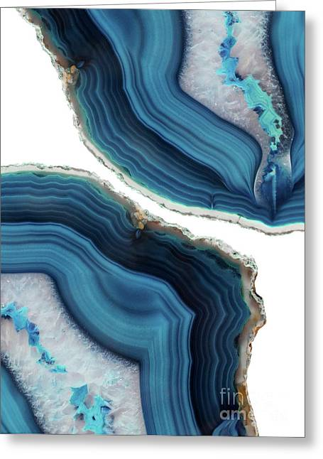 Blue Agate Greeting Card