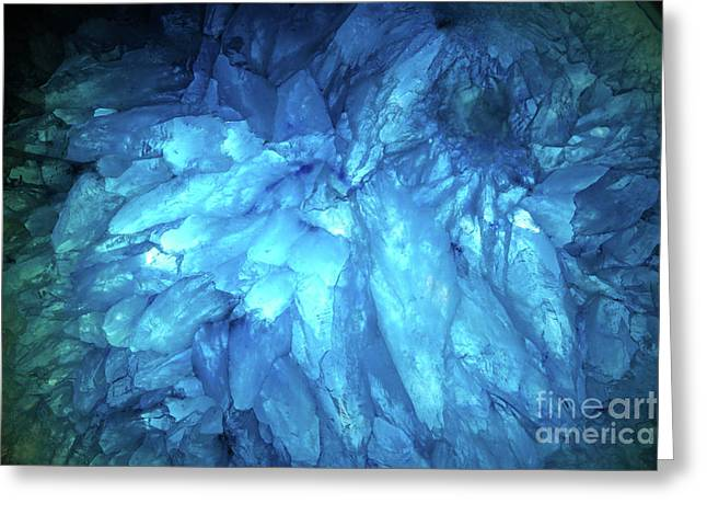 Greeting Card featuring the photograph Blue Agate by Nicholas Burningham
