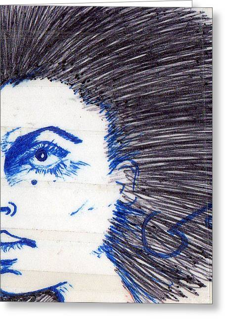 Blue Greeting Card by Agatha Green