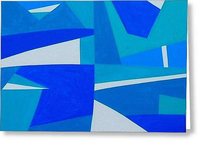 Greeting Card featuring the painting Blue Alet by Dick Sauer