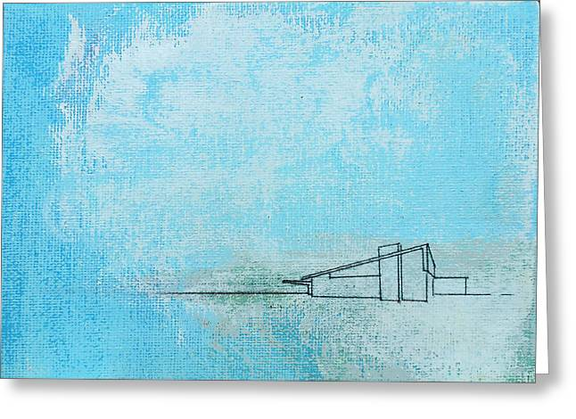 Blue Alexander White Mist Greeting Card