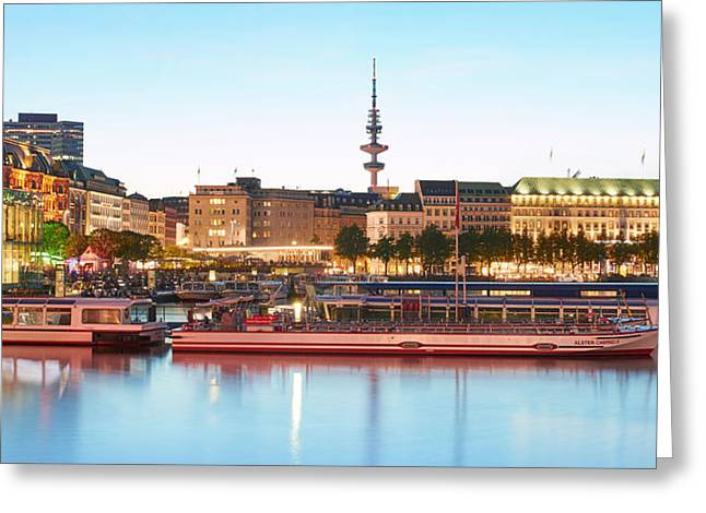 Greeting Card featuring the photograph Blue Alster by Marc Huebner