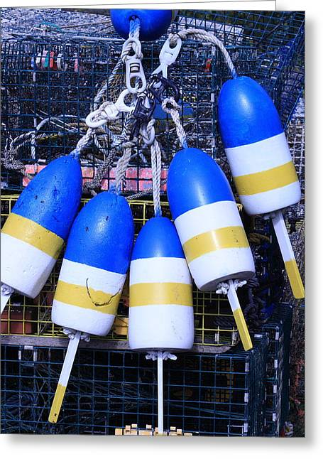 Blue And Gold Bouys Greeting Card