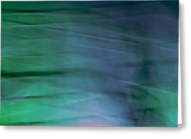Blue And Green Greeting Card by William Wetmore