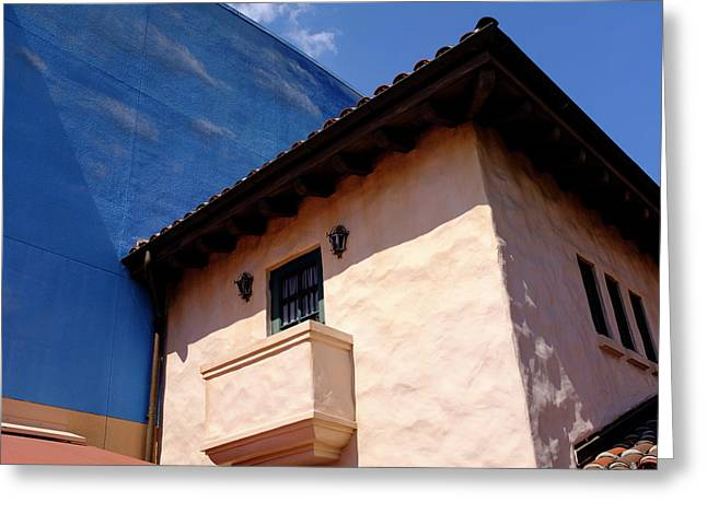 Blue And Vintage Color Architecture Photo In Saint Augustine Flo Greeting Card