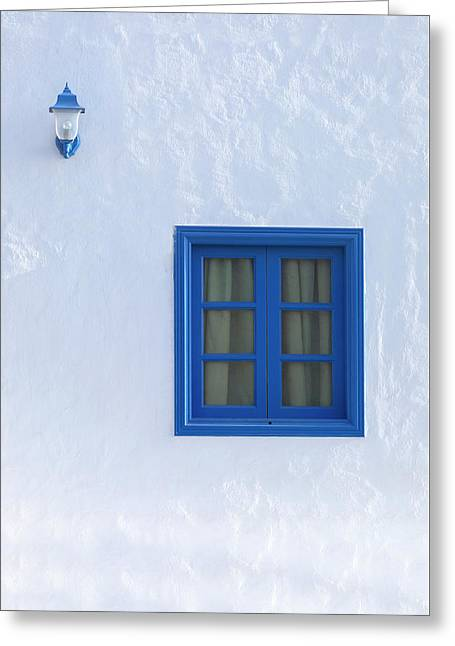Blue And White Greeting Card