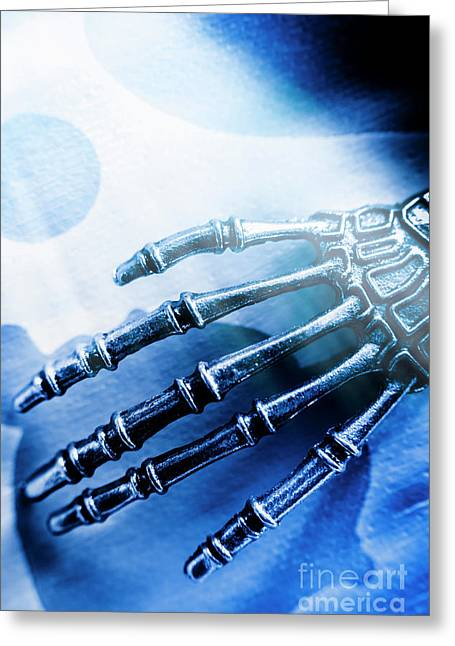 Blue Android Hand Greeting Card by Jorgo Photography - Wall Art Gallery