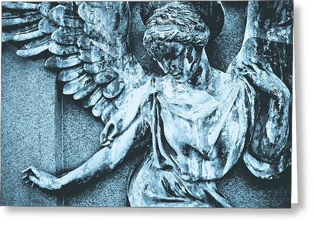 Blue Angel Greeting Card by Colleen Kammerer
