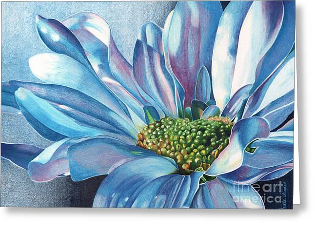 Greeting Card featuring the painting Blue by Angela Armano