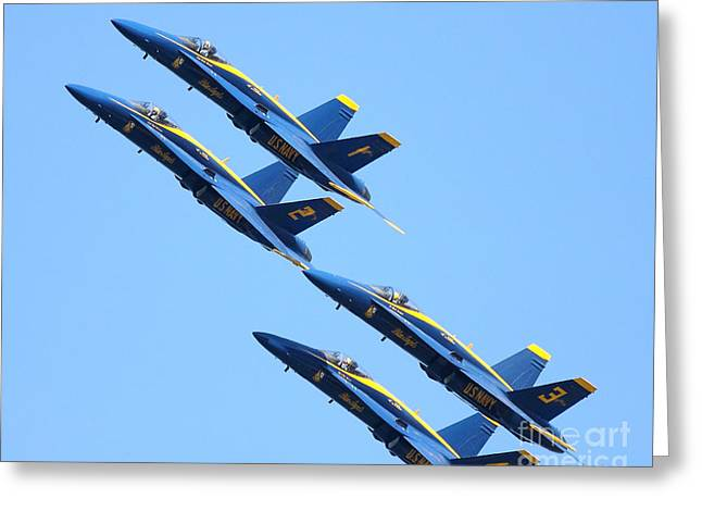 Blue Angels 1 2 3 And 4 Greeting Card by Wingsdomain Art and Photography