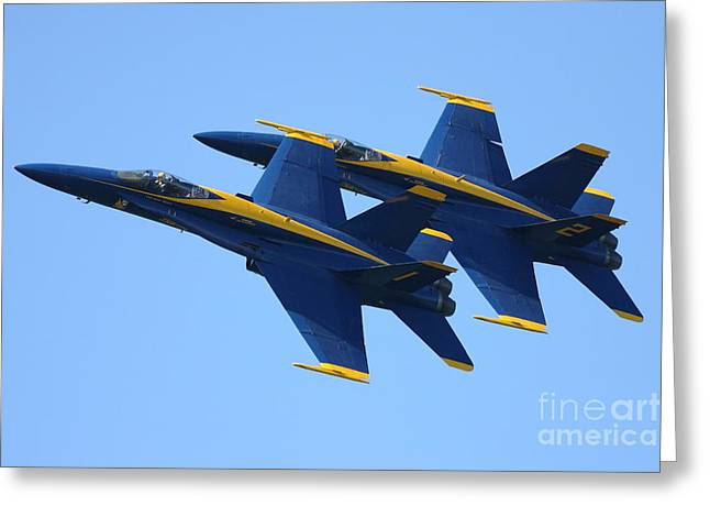 Blue Angels 1 And 2 Greeting Card by Wingsdomain Art and Photography