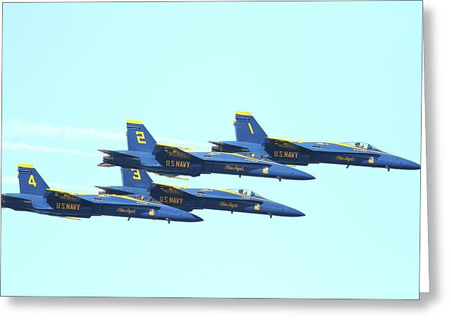 Blue Angels 4 Team Formation 4 Greeting Card