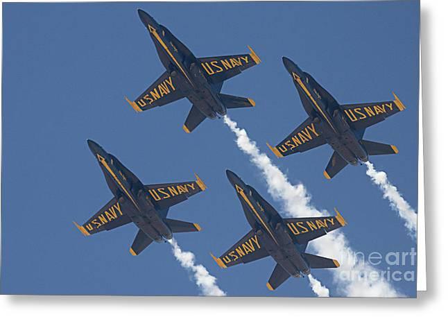 Blue Angels Blue Skies Greeting Card