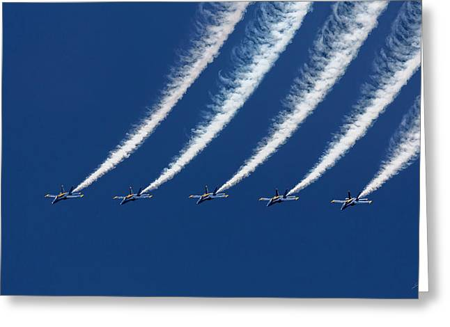 Blue Angels Formation Greeting Card