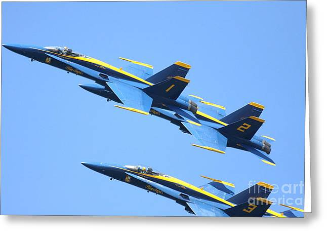 Blue Angels No.1.2.3 Greeting Card by Wingsdomain Art and Photography