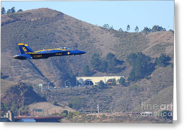 Blue Angels No.5 Greeting Card by Wingsdomain Art and Photography