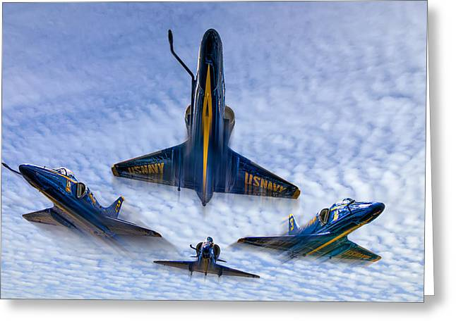 Blue Angels V.2 Greeting Card by Tim Stanley