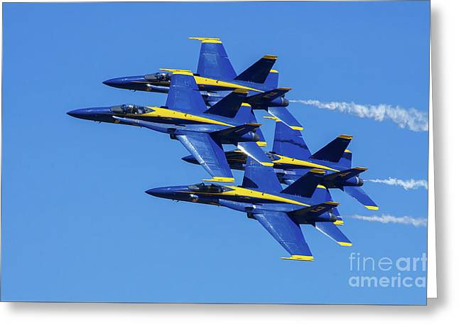 Blue Angels Very Close Formation 1 Greeting Card