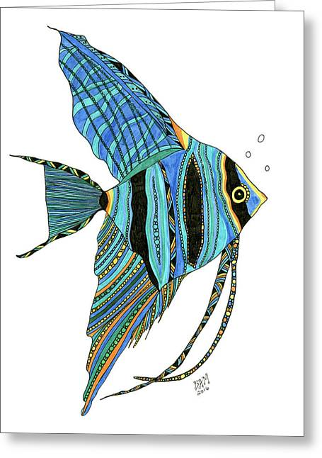 Blue Anglefish Greeting Card