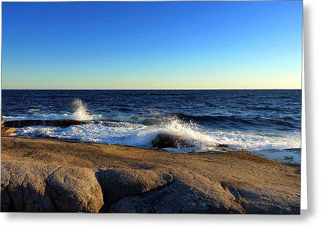 Blue Atlantic Greeting Card by Heather Vopni