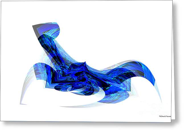 Blue Attitude Greeting Card by Thibault Toussaint