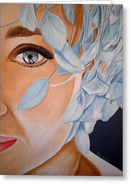 Blue Audrey Greeting Card by Al  Molina