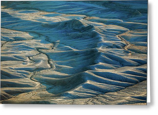 Greeting Card featuring the photograph Blue Badlands by Johnny Adolphson