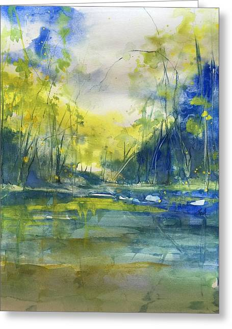 Blue Bayou Greeting Card by Robin Miller-Bookhout