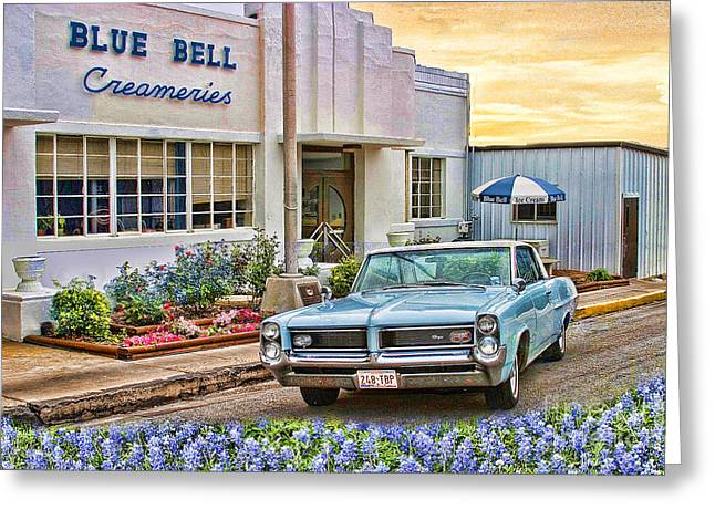 Blue Bell, Bluebonnets, And My Grand Prix Greeting Card
