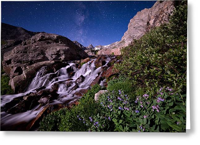 Blue Bell Falls Greeting Card by Mike Berenson