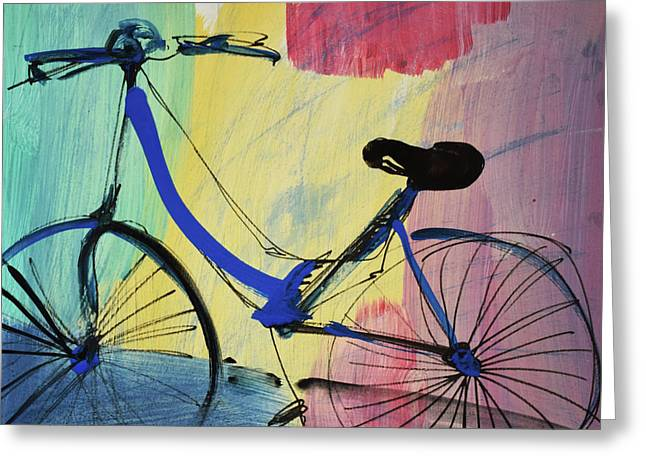 Blue Bicycle Greeting Card