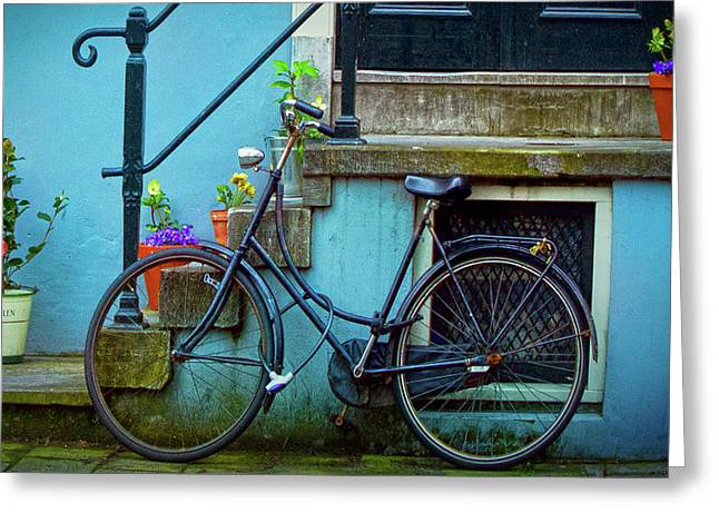 Blue Bike Greeting Card