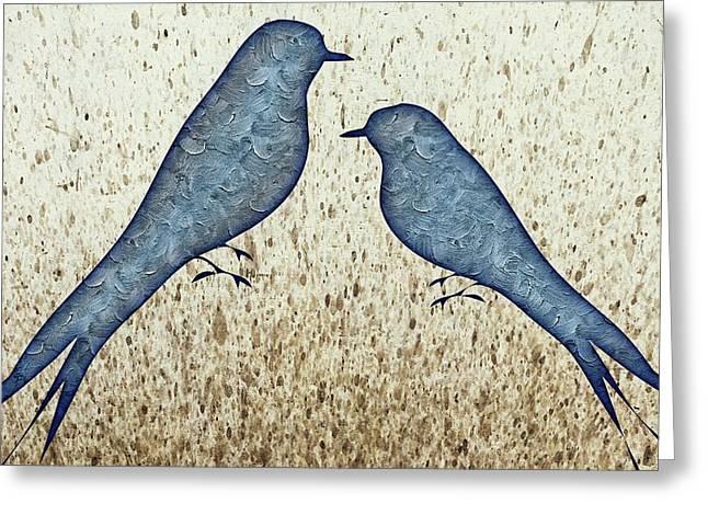 Blue Birds 2  Greeting Card