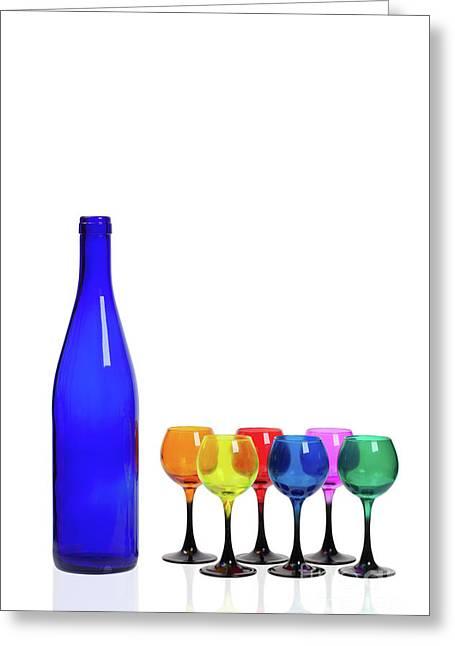 Blue Bottle #2429 Greeting Card