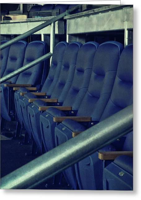 Blue Box Seats Greeting Card by JAMART Photography
