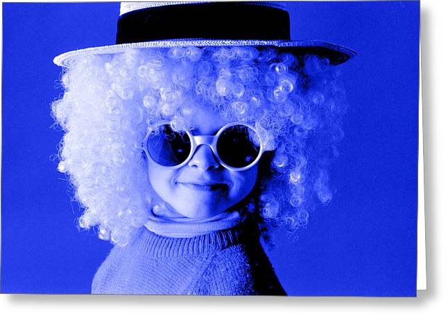 Blue Boy  Greeting Card by Daniel D Miller