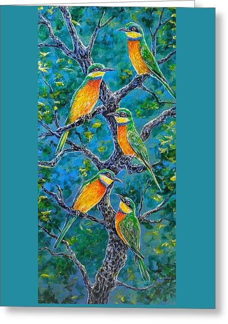 Blue Breasted Bee Eater Greeting Card by Gail Butler