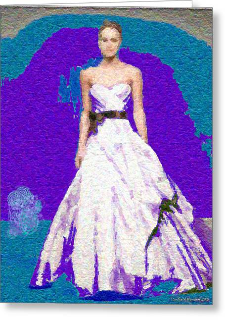 Blue Bride Greeting Card by Penfield Hondros