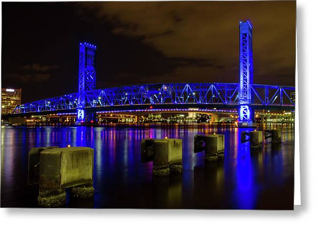 Blue Bridge 1 Greeting Card
