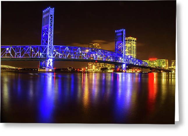 Blue Bridge 3 Greeting Card