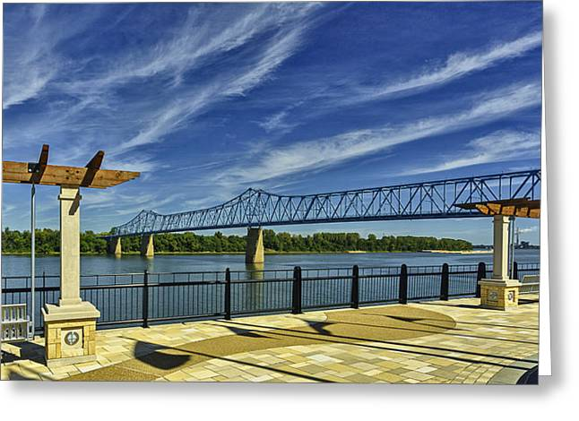 Blue Bridge And Smothers Park Greeting Card