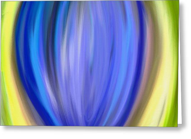 Greeting Card featuring the digital art Blue Bud by Melinda Ledsome