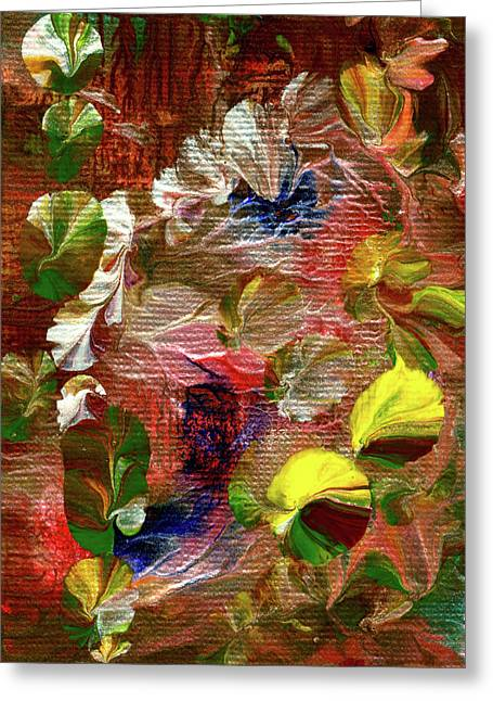 Blue Butterfly Jungle Greeting Card